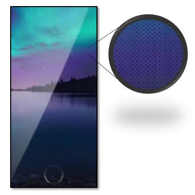 Bezel-less phone race-ApplePatent